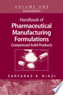 Handbook Of Pharmaceutical Manufacturing Formulations Book PDF