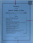 Journal of the Tennessee Academy of Science Book