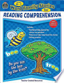 Word Family Stories for Reading Comprehension, Grades K-1