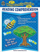 Word Family Stories for Reading Comprehension  Grades K 1
