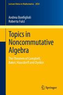 Topics in Noncommutative Algebra