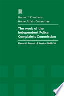 The Work Of The Independent Police Complaints Commission