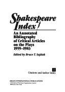 Shakespeare Index  Citations and author index