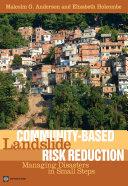 Community-Based Landslide Risk Reduction Pdf