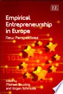 Empirical entrepreneurship in Europe