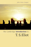 The Cambridge Introduction to T  S  Eliot
