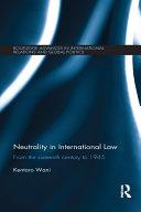 Neutrality in International Law