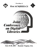 Proceedings of First ACM IEEE CS Joint Conference on Digital Libraries
