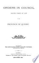 Statut de la province de Queb  c