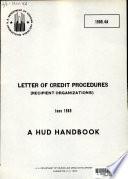 Letter of Credit Procedures  recipient Organizations