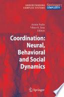 Coordination Neural Behavioral And Social Dynamics Book PDF