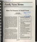 How to Finance a Small Farm Book PDF