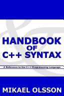 Handbook of C++ Syntax