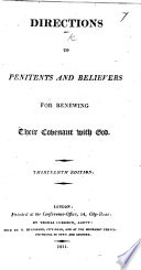 Directions to penitents and believers for renewing their covenant with God. By John Wesley. Eighth edition