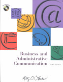 Business and Administrative Communication with CD and E text Book