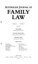 Australian Journal of Family Law