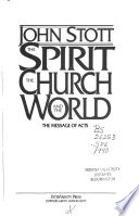The Spirit, the church, and the world  : the message of Acts