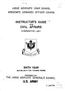 Instructor s Guide for Civil Affairs  comparative Law