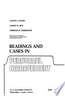 Readings and Cases in Personnel Management