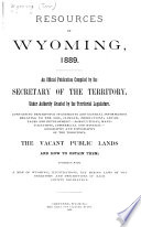 Resources of Wyoming  1889 Book PDF
