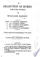A Selection of Hymns for Public Worship  etc