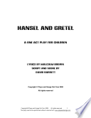 Hansel and Gretel  E Script with Site Licence to Copy