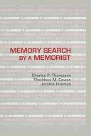 Pdf Memory Search By A Memorist