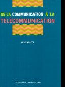 De la communication à la télécommunication