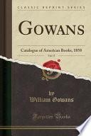 Gowans, Vol. 17