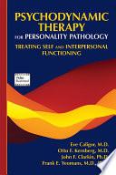 Psychodynamic Therapy for Personality Pathology