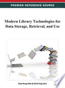 Modern Library Technologies for Data Storage  Retrieval  and Use Book