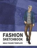 Fashion Sketchbook Male Figure Template