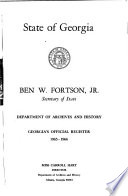 Georgia Official and Statistical Register