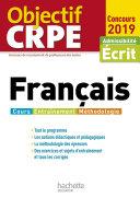 Pdf Objectif CRPE Français 2019 Telecharger