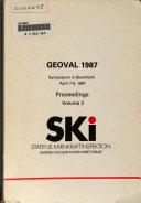 Geoval 1987 Book PDF