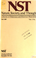 Nature, Society, and Thought