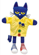 Pete the Cat and His Four Groovy Buttons 14 5  Puppet