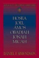 Pdf Abingdon Old Testament Commentaries: Hosea, Joel, Amos, Obadiah, Jonah, Micah