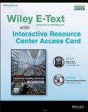 Fundamentals of Building Construction, 6e Wiley E-Text Card and Interactive Resource Center Access Card