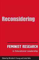 Reconsidering Feminist Research in Educational Leadership Pdf/ePub eBook