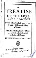 A Treatise Of The Love Of God