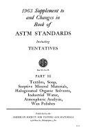 Book of ASTM Standards Including Tentatives