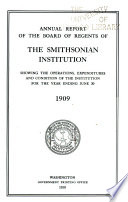 Annual Report of the Board of Regents of the Smithsonian Institution