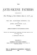 Pdf The Ante-Nicene Fathers