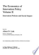 The Economics of Innovation Policy: Innovation policies and social impact