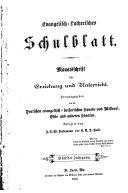 Evangelisch-Lutherisches Schulblatt