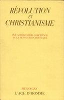 Révolution et christianisme