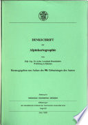 Denkschrift zur Alpinkartographie