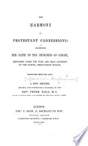 The Harmony of Protestant Confessions