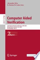 Computer Aided Verification Book